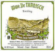 Dr. Thanisch Estate Riesling QbA 2001 Front Label