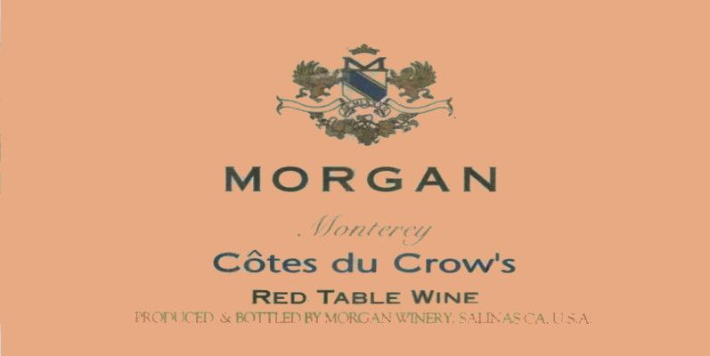 Morgan Cotes du Crow's 2003 Front Label