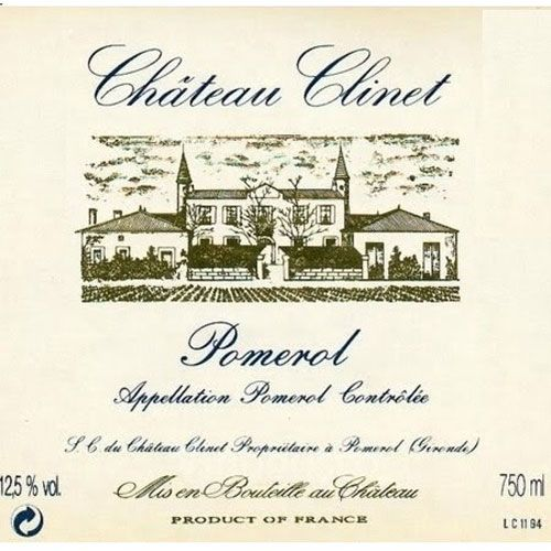 Chateau Clinet  1998 Front Label