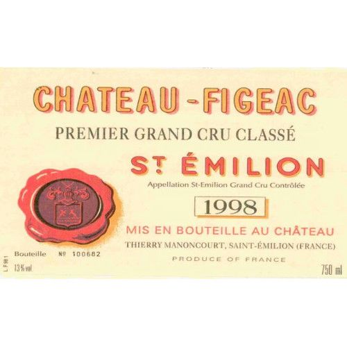 Chateau Figeac  1998 Front Label