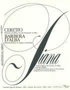 Ceretto Barbera d'Alba Piana 1999 Front Label