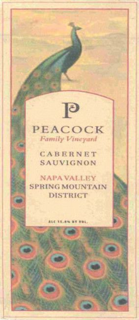 Peacock Family Vineyard Cabernet Sauvignon 2011 Front Label