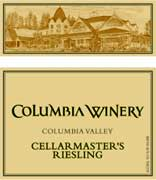 Columbia Winery Cellarmaster Johannisberg Riesling 2002 Front Label