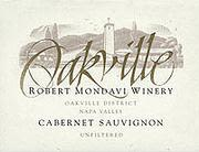 Robert Mondavi Oakville District Cabernet Sauvignon 1999 Front Label