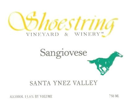 Shoestring Winery Sangiovese 2006 Front Label