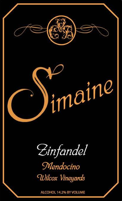 Simaine Cellars Wilcox Zinfandel 2010 Front Label