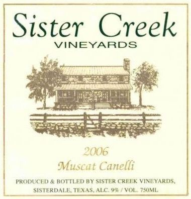 Sister Creek Vineyards Muscat Canelli 2006 Front Label