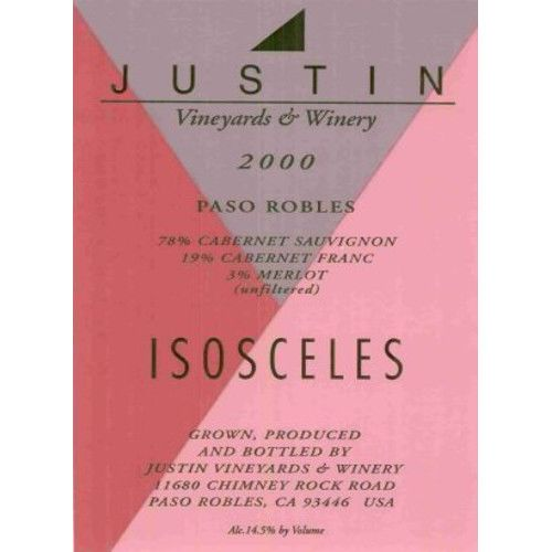 Justin Isosceles 2000 Front Label