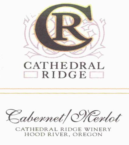 Cathedral Ridge Winery Cabernet Merlot 2011 Front Label