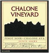 Chalone Estate Pinot Noir 2001 Front Label