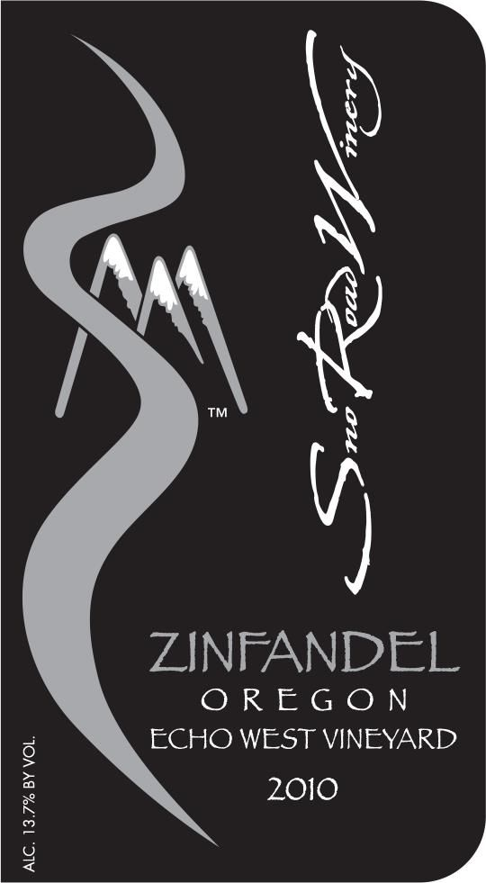 Sno Road Winery Zinfandel 2010 Front Label