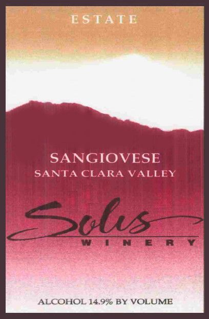 Solis Winery Estate Sangiovese 2006 Front Label
