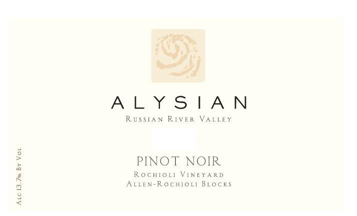 Alysian Rochioli Vineyard  Blocks Pinot Noir 2008 Front Label