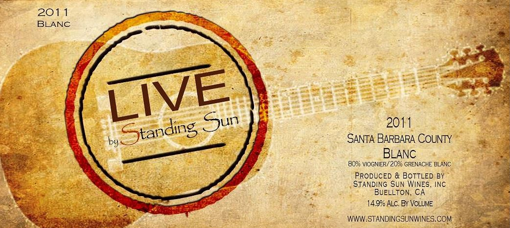 Standing Sun Wines Live Grenache 2011 Front Label