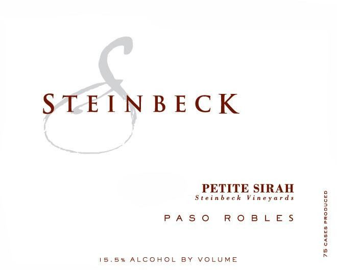Steinbeck Vineyards & Winery Petite Sirah 2011 Front Label