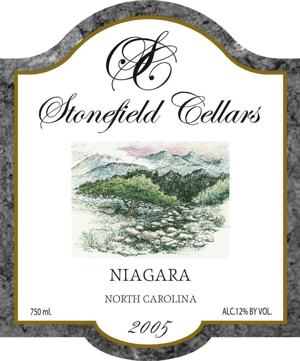 Stonefield Cellars Niagara 2005 Front Label