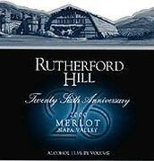 Rutherford Hill Merlot (half-bottle) 2000 Front Label