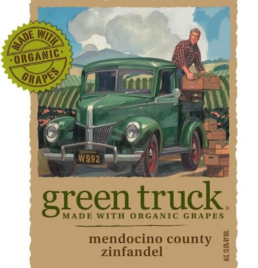 Red Truck Winery Green Truck Zinfandel 2010  Front Label