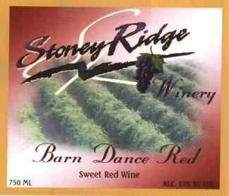 Stoney Ridge Winery Barn Dance Red 2015 Front Label