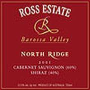 Ross Estate Northridge Cabernet Sauvignon/Shiraz 2001 Front Label