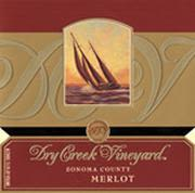 Dry Creek Vineyard Merlot 2000 Front Label