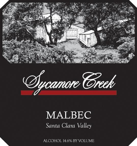 Sycamore Creek Vineyards & Winery Malbec 2010 Front Label
