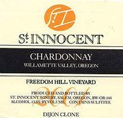 St. Innocent Freedom Hill Chardonnay 2000 Front Label