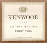 Kenwood Russian River Pinot Noir 2001 Front Label