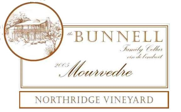 The Bunnell Family Cellar Northridge Vineyard Mourvedre 2005 Front Label
