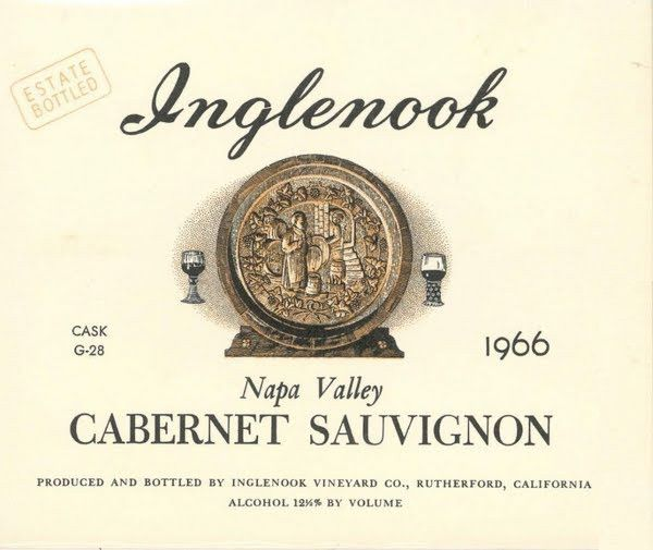 Inglenook Napa Valley Cabernet Sauvignon 1966 Front Label