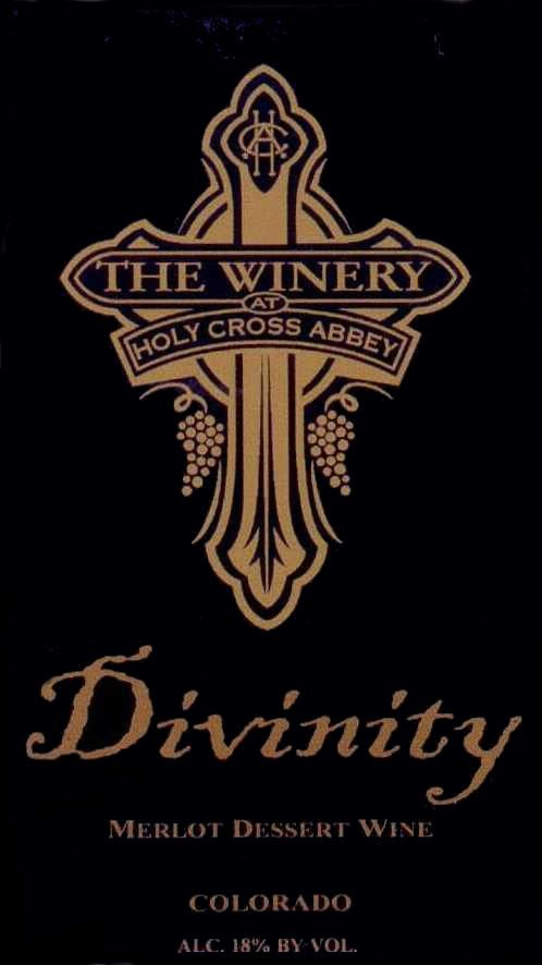The Winery at Holy Cross Abbey Divinity Dessert Wine 2008 Front Label