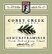 Corey Creek Gewurztraminer 2001 Front Label