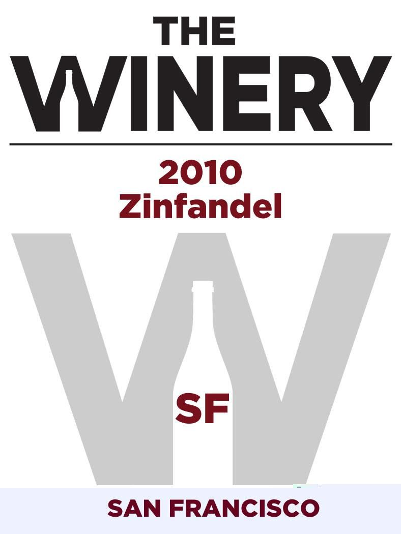 The Winery SF Zinfandel 2010 Front Label