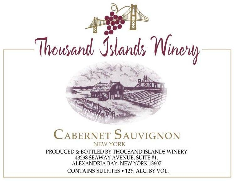 Thousand Islands Winery Cabernet Sauvignon 2011 Front Label