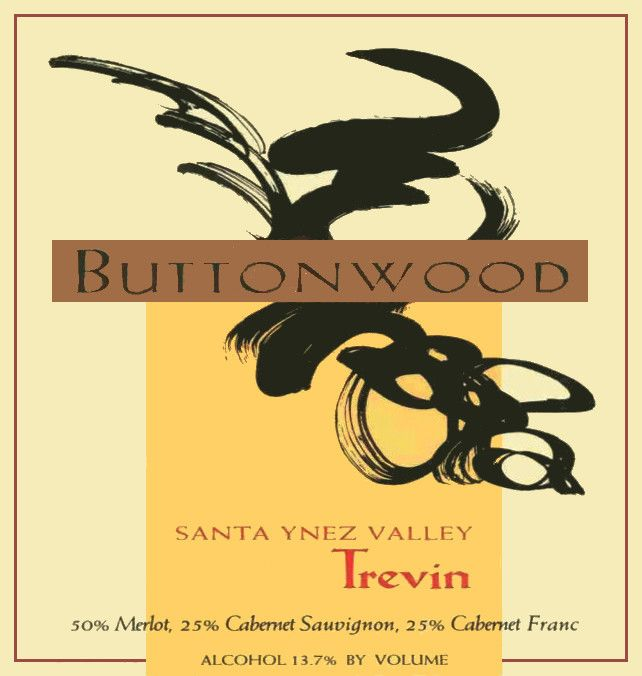 Buttonwood Farms Estate Trevin Red 2002 Front Label