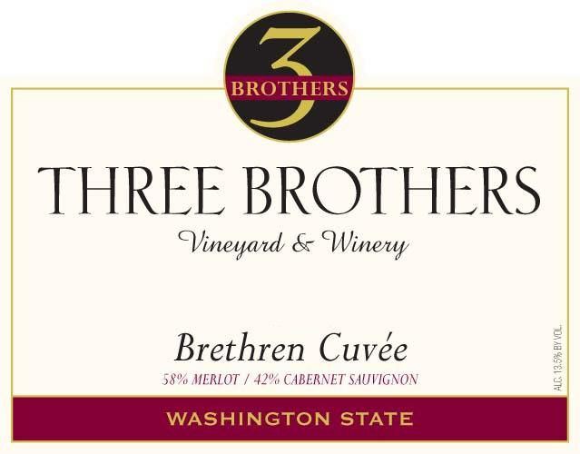 Three Brothers Vineyard and Winery Brethren Cuvee 2008 Front Label