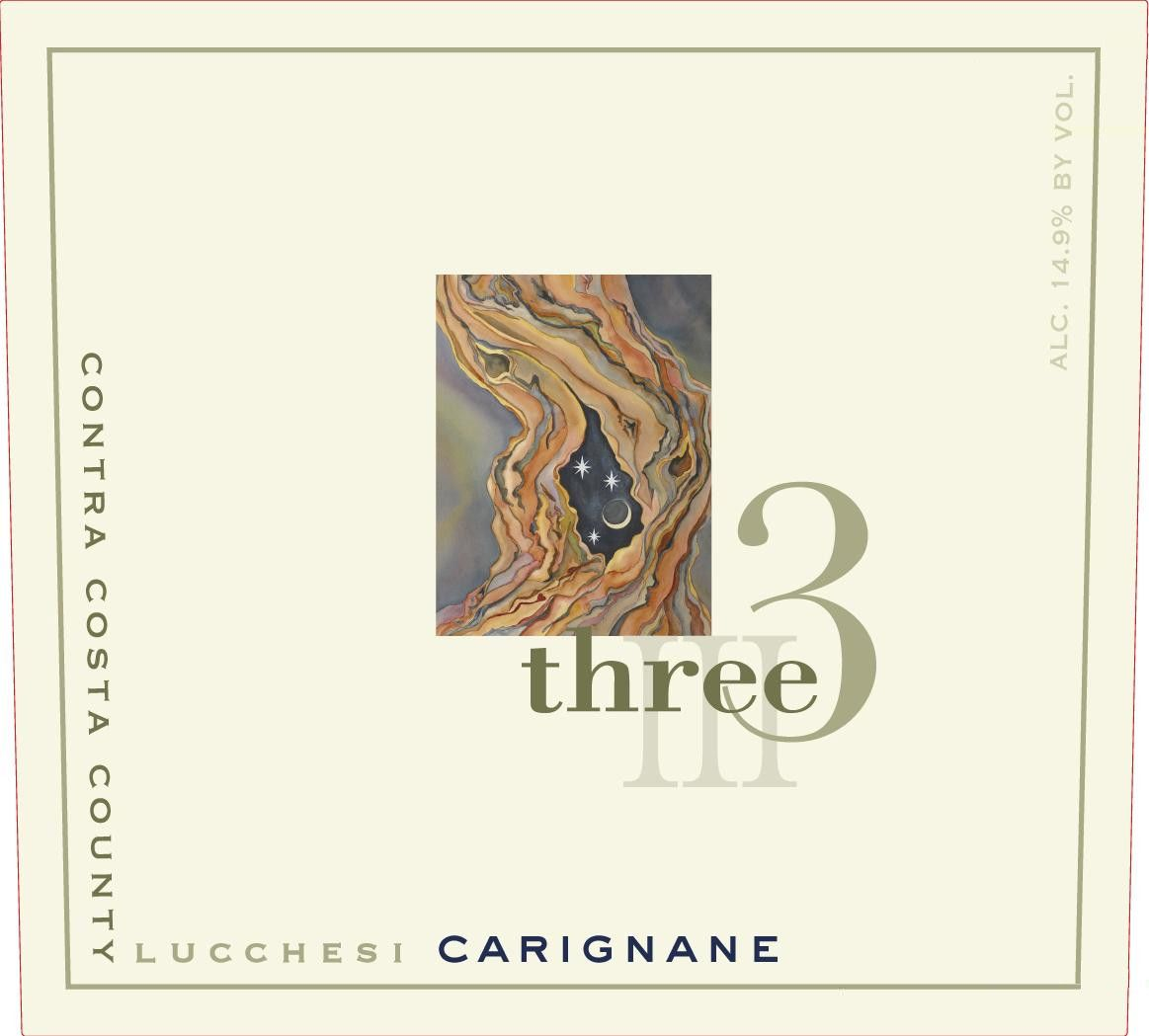Three Wine Company Lucchesi Vineyard Carignane 2011 Front Label