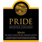Pride Mountain Vineyards Merlot 2001 Front Label