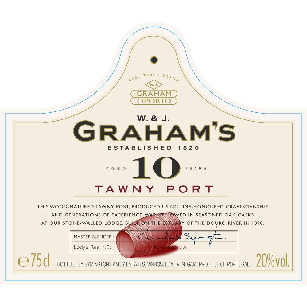 Graham's 10 Year Old Tawny Port Front Label