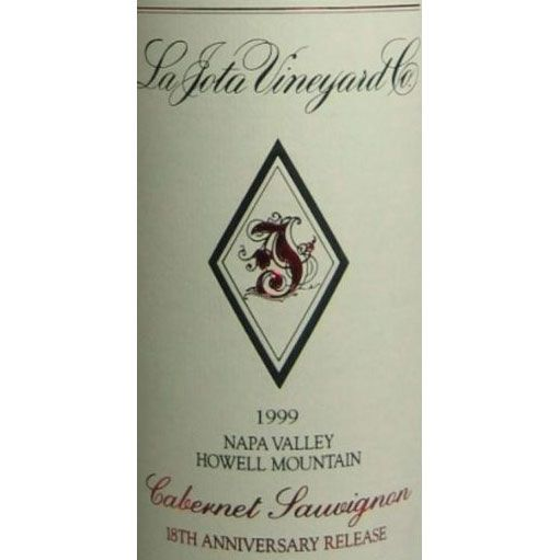 La Jota 18th Anniversary Howell Mt. Cabernet Sauvignon 1999 Front Label