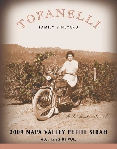 Tofanelli Family Vineyard Petite Sirah 2009 Front Label