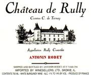 Antonin Rodet Chateau de Rully blanc 1997 Front Label