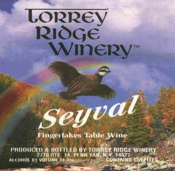 Torrey Ridge Winery Seyval Blanc 2001 Front Label