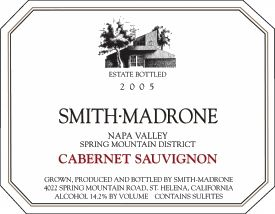 Smith Madrone Cabernet Sauvignon 2005  Front Label