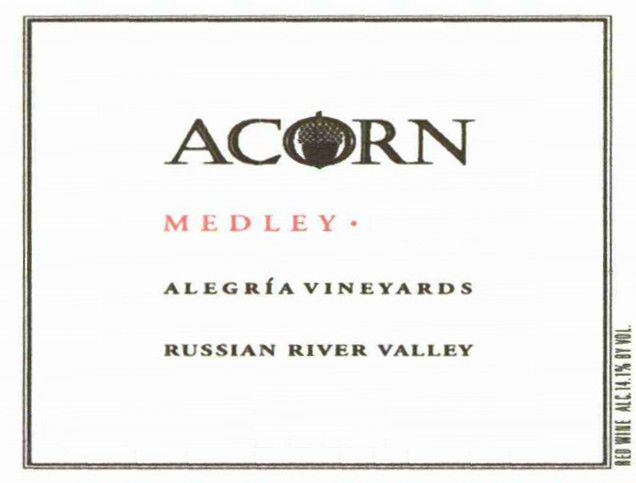 ACORN Winery Alegria Vineyards Medley 2004 Front Label