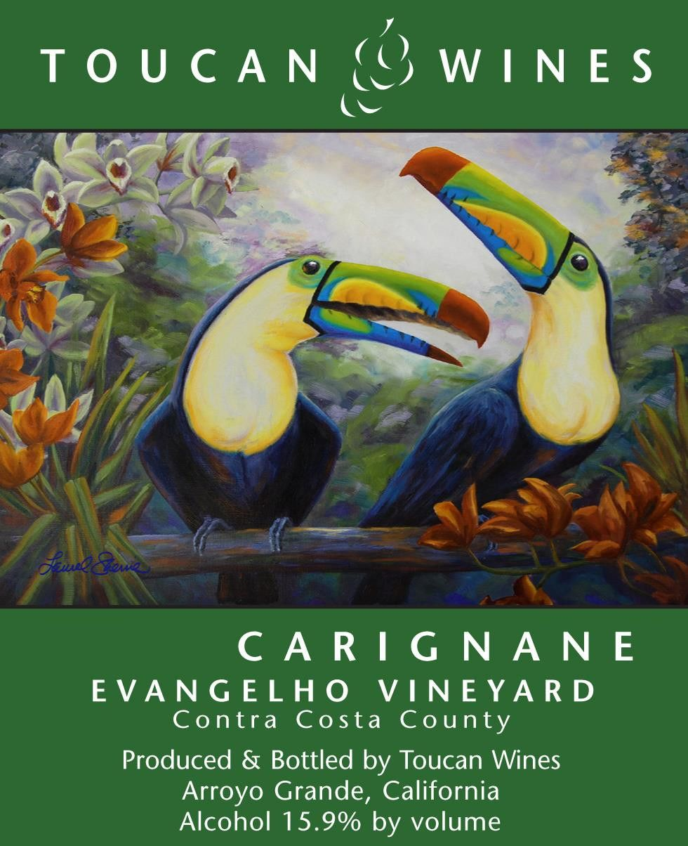 Toucan Wines Evangelho Vineyard Carignane 2011 Front Label