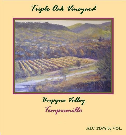 Triple Oak Vineyard Tempranillo 2010 Front Label