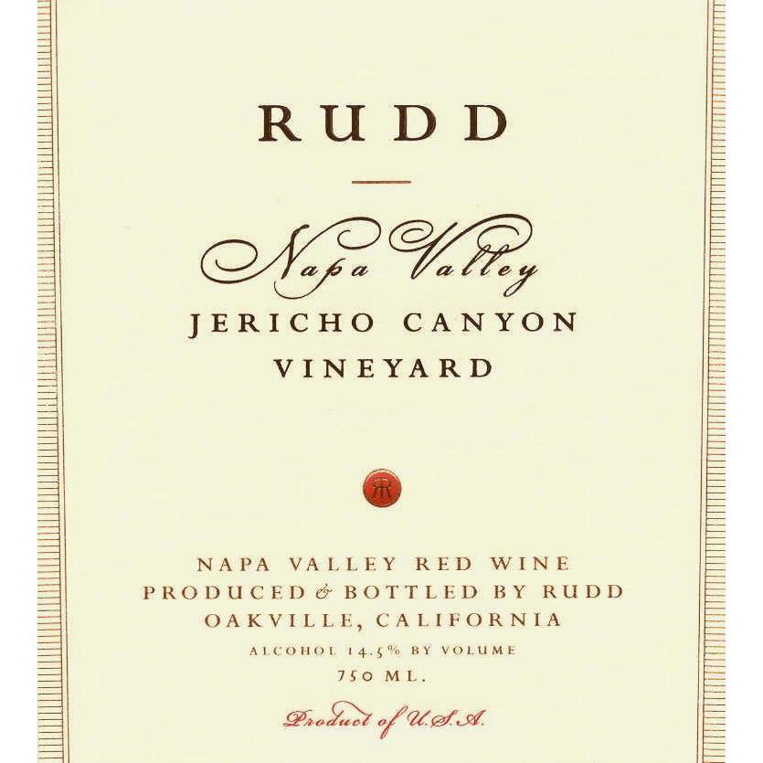 Rudd Jericho Canyon Vineyard Proprietary Red 2000 Front Label