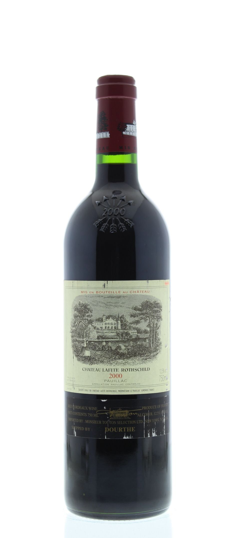 Chateau Lafite Rothschild (Slightly scuffed label) 2000 Front Bottle Shot