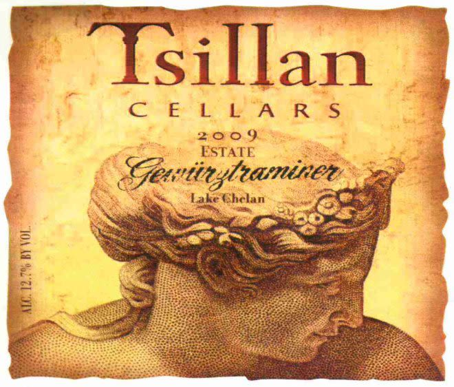 Tsillan Cellars Estate Gewurztraminer 2009 Front Label